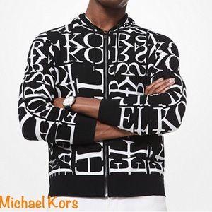❤️NWT MICHAEL KORS MENS Newsprint Logo Hoodie❤️